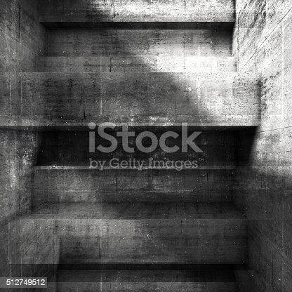 istock Abstract grungy dark concrete wall background 512749512