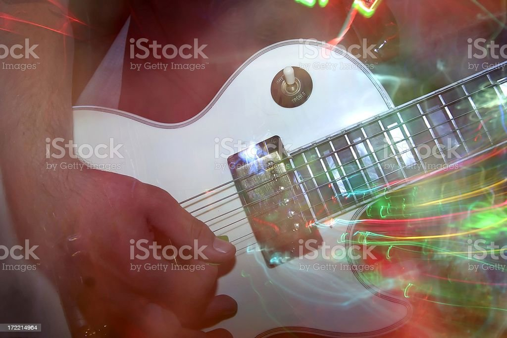 abstract guitar stock photo