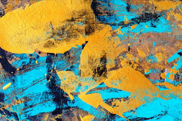 soyut el boyalı arka plan sanat - tuval üzerine akrilik stok fotoğraflar ve resimler