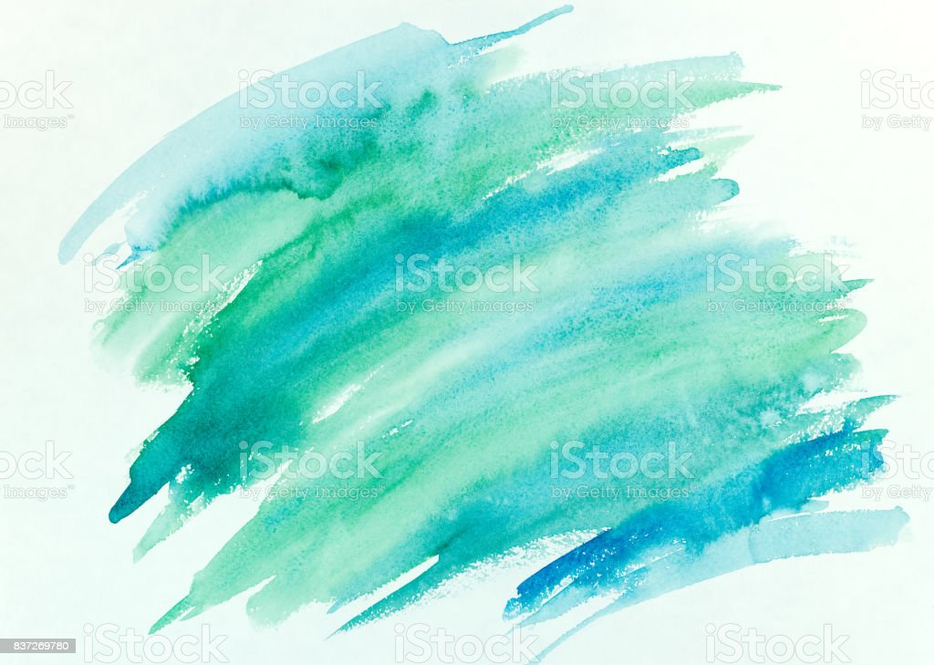 abstract hand painted colorful striped watercolor background stock photo