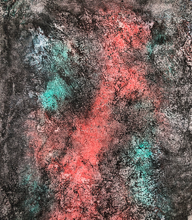 523169768 istock photo Abstract hand painted grunge texture on canvas 1243960657