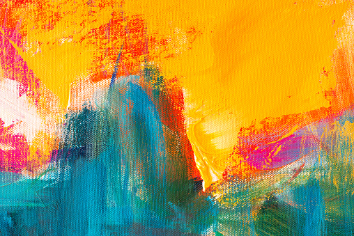 istock Abstract Hand-painted Art Background on Canvas 1134512518