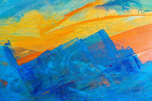 el yapımı sanat arka plan - yağlı boya resim stok fotoğraflar ve resimler