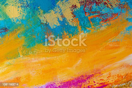 istock Abstract Hand-painted Art Background 1081160214