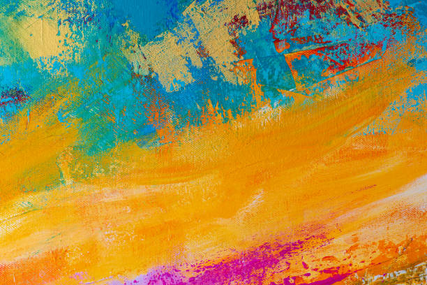abstract hand-painted art background - paint texture stock pictures, royalty-free photos & images