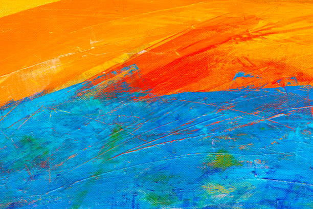 Abstract Hand-painted Art Background stock photo