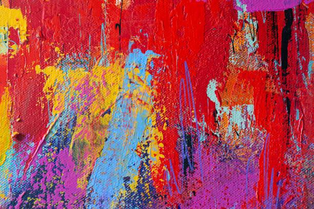 Abstrakte handgemalte Kunst Hintergrund – Foto