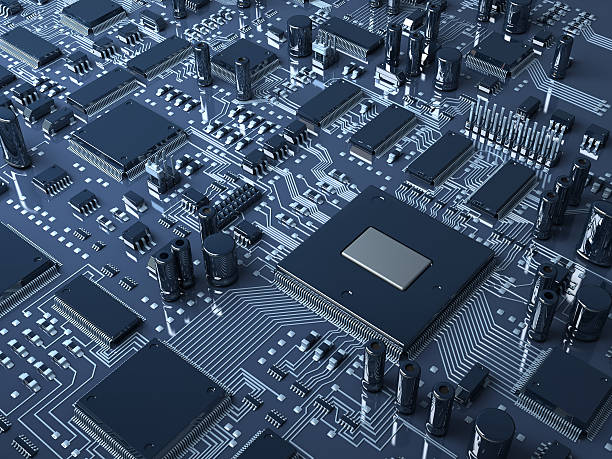 abstract hardware - mother board stock photos and pictures