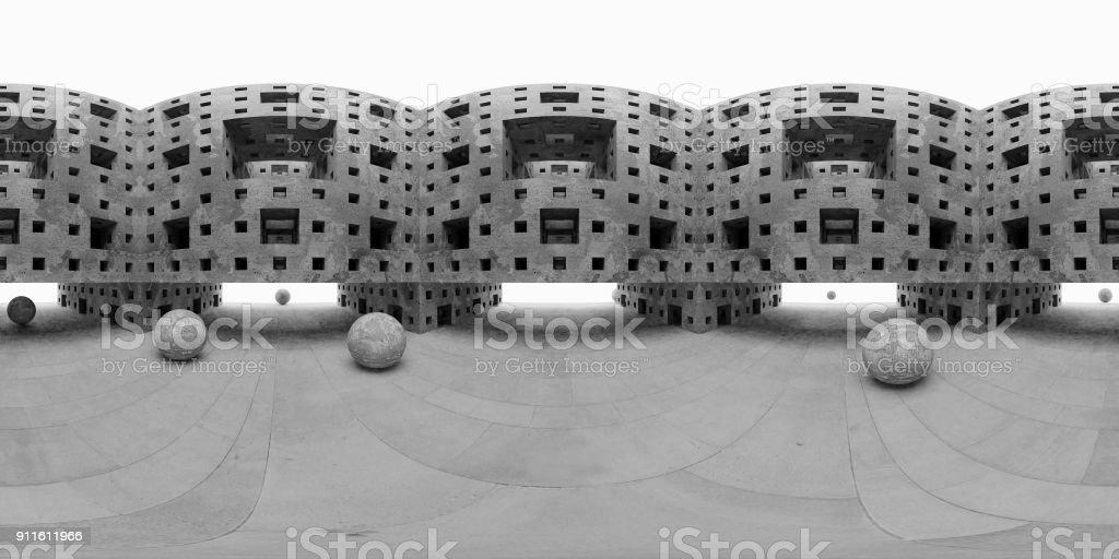 carte d'environnement HDRI abstraite, photographie panoramique fond, source lumineuse rendering (rendu 3d d'équirectangulaire) - Photo