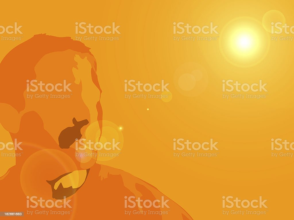 abstract head and shoulders background stock photo
