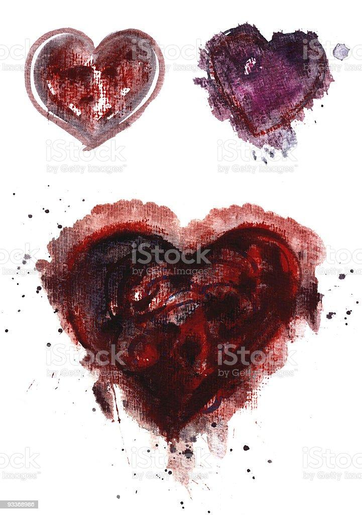abstract heart set stock photo