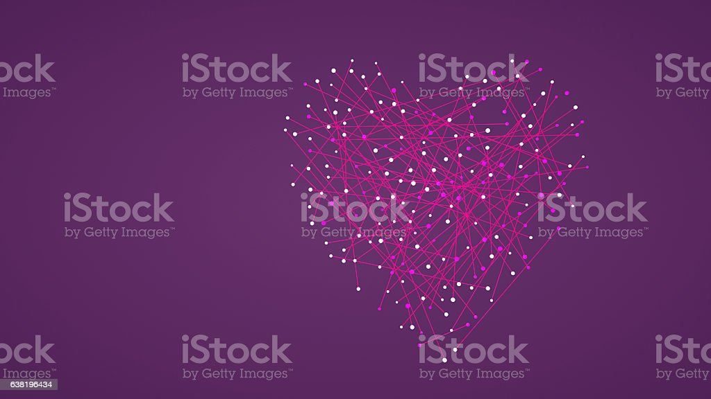 Abstract heart shaped Valentine's background stock photo