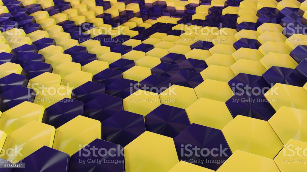Abstract Hex Background royalty-free stock photo