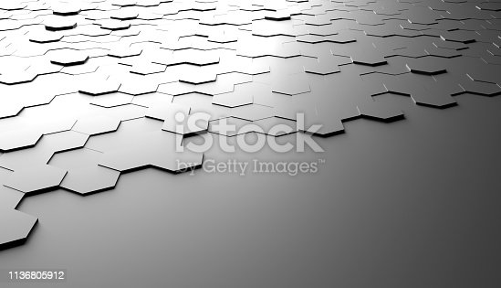 477312602 istock photo Abstract hexagon background 1136805912