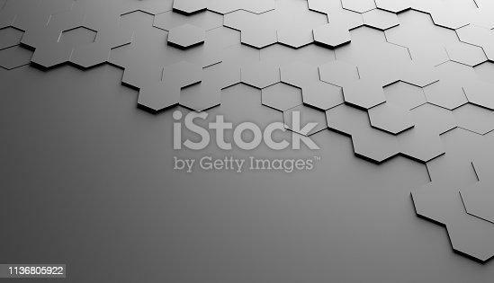 477312602 istock photo Abstract hexagon background 1136805922