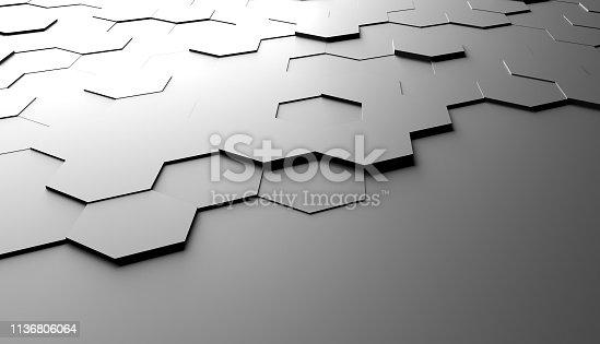 477312602 istock photo Abstract hexagon background 1136806064