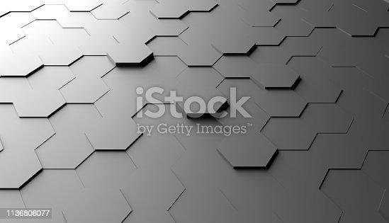477312602 istock photo Abstract hexagon background 1136806077