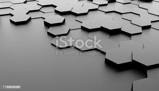 477312602 istock photo Abstract hexagon background 1136806080