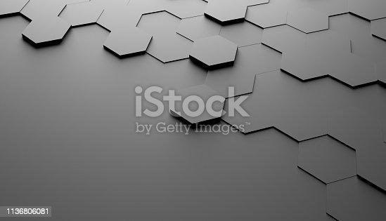 477312602 istock photo Abstract hexagon background 1136806081