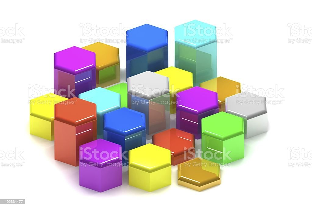 Abstract hexagon royalty-free stock photo