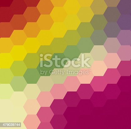 508795172istockphoto Abstract hexagon retro styled colorful background 479039744