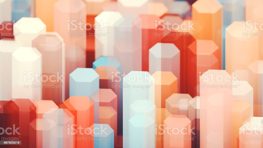Abstract hexagons background stock photo