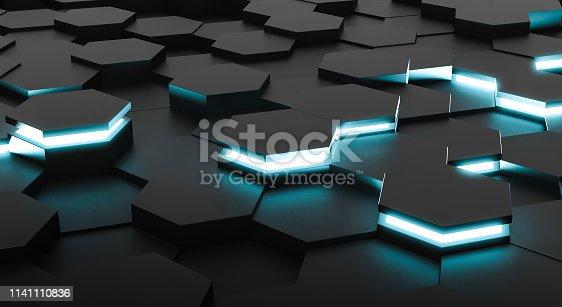 1003112152 istock photo Abstract hexagons 1141110836