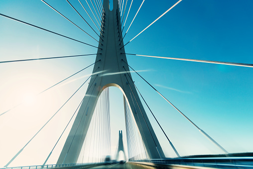 Abstract highway bridge background