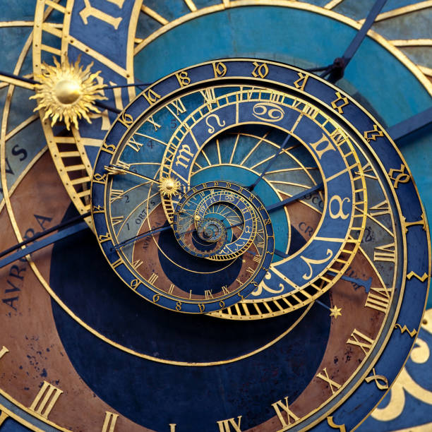 Abstract historical medieval astronomical clock Abstract historical medieval astronomical clock astronomical clock prague stock pictures, royalty-free photos & images
