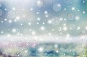 Abstract holiday background, beautiful shiny Christmas lights, glowing magic bokeh.