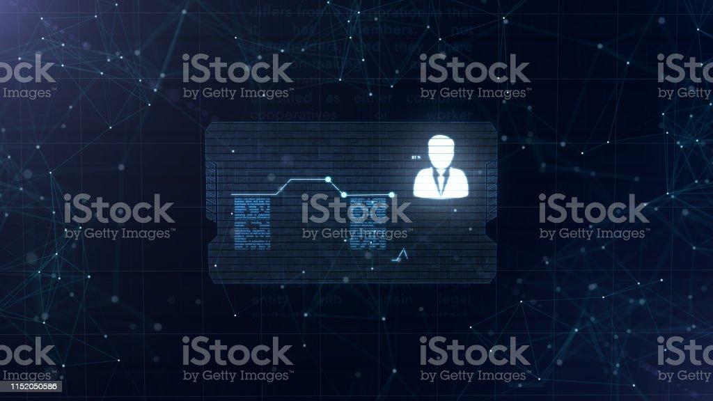 Abstraktes Hologramm Visitenkarte Mit Einem Zeichen Von