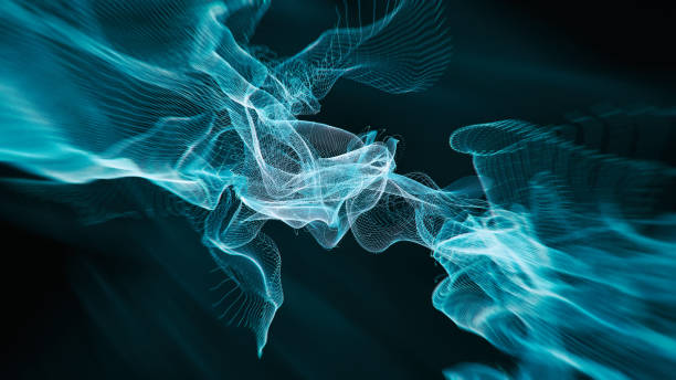 Abstract Hologram gravity wave background stock photo