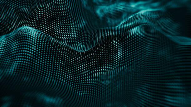 Abstract Hologram gravity wave BG stock photo