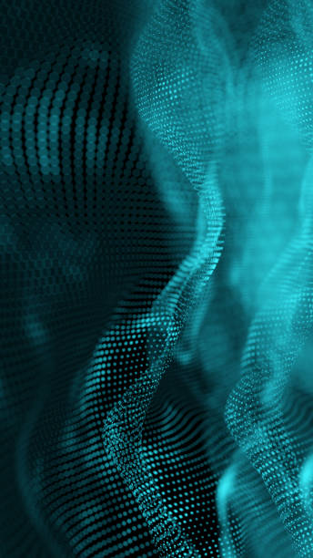 Abstract Hologram gravity wave vertical BG stock photo