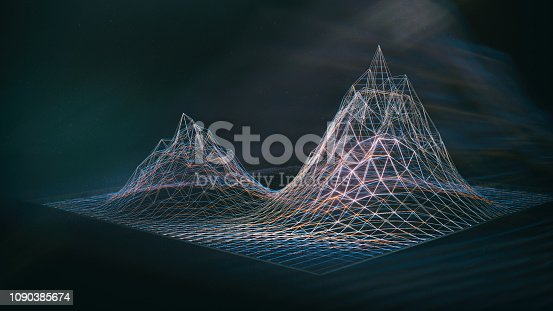 istock Abstract Hologram Landscape background 1090385674