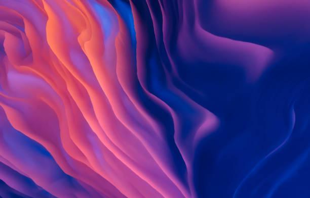 fondo abstracto holográfico 3d ondulado - abstract background fotografías e imágenes de stock