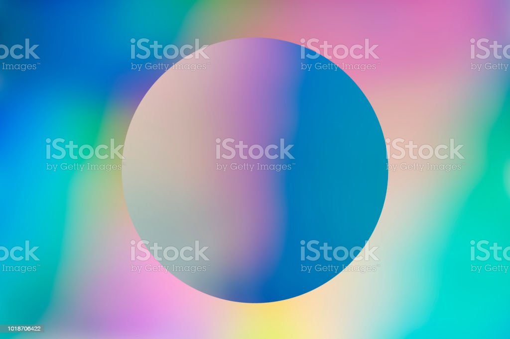 Abstract holographic background with circle stock photo