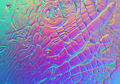 Holographic Foil Background Abstract Multi Colored Gradient Wave Pattern Rainbow Pastel Neon Skin Texture Hologram Wallpaper Glittering Colors Computer Graphic Fractal Fine Art