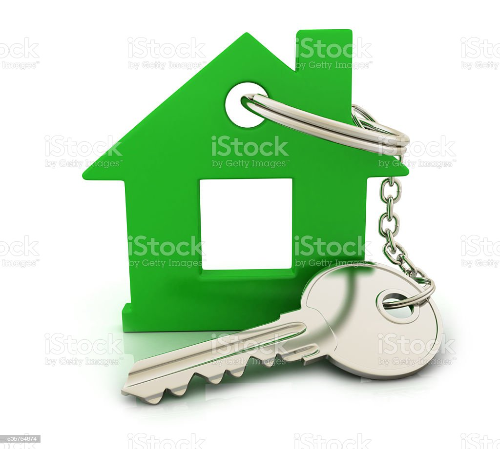 Abstract home and key stock photo