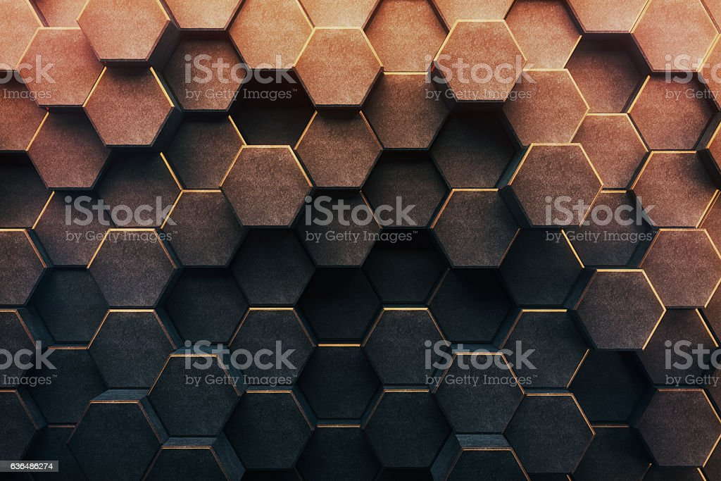 Abstract honeycomb background stock photo