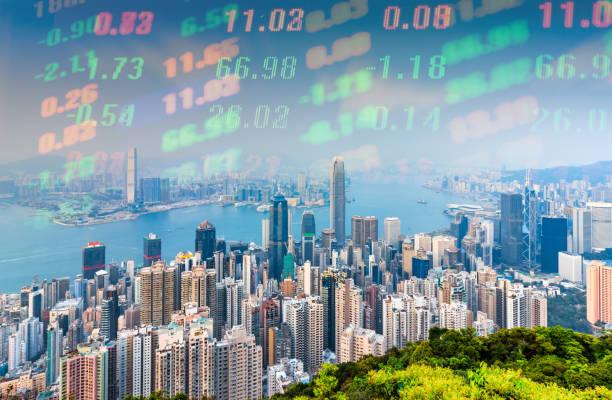 Resumen mercado financiero de Hong Kong - foto de stock