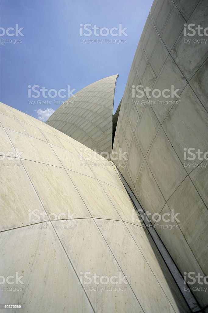 Abstract house of worship royalty-free stock photo
