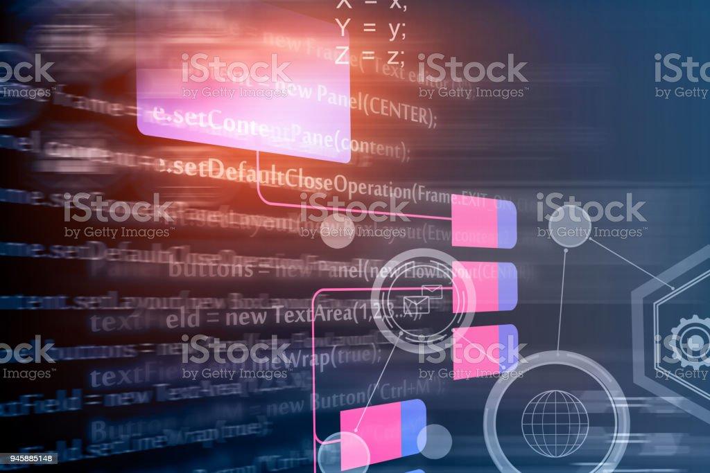 Abstract HTML backdrop stock photo