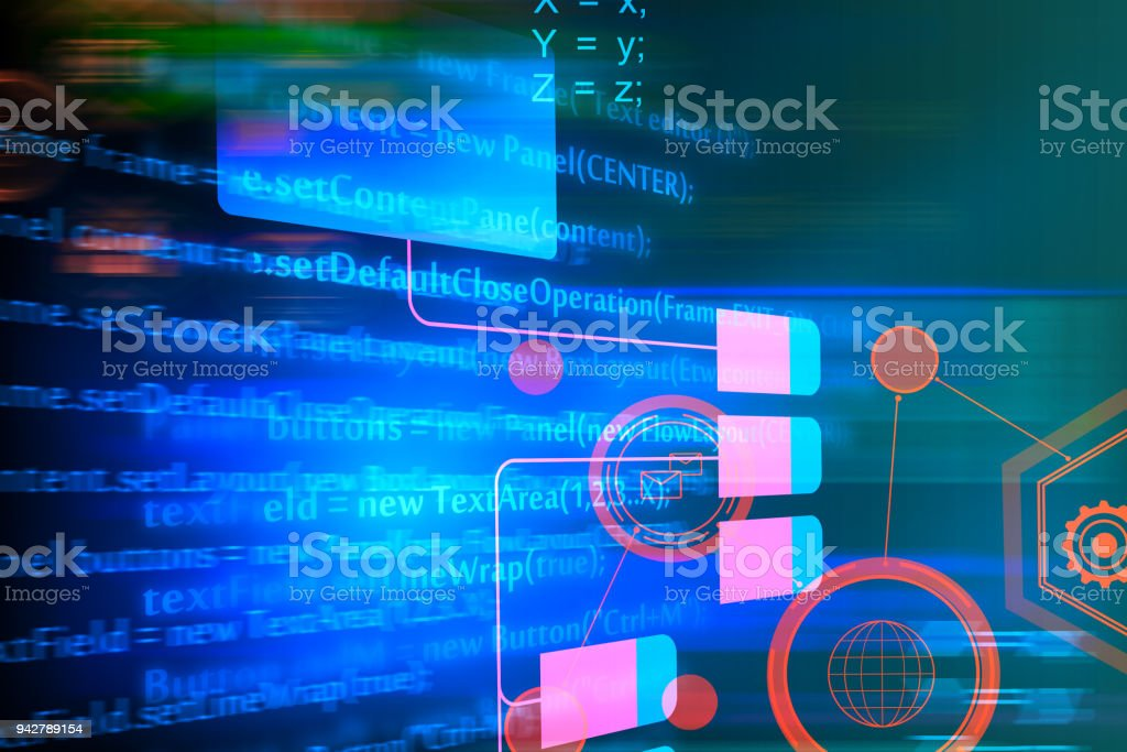 Abstract HTML background stock photo