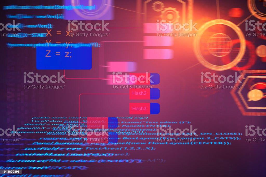 Abstract HTML texture stock photo
