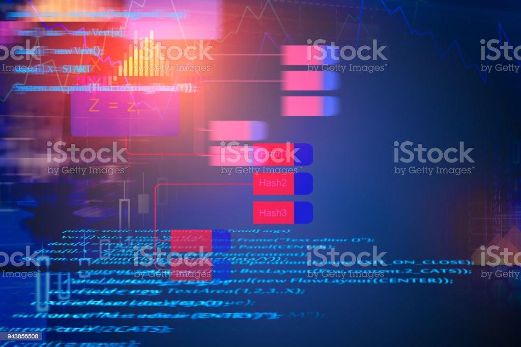 Abstract HTML wallpaper stock photo