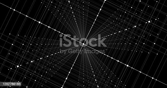 Plexus lines and dots with a futuristic digital technology theme