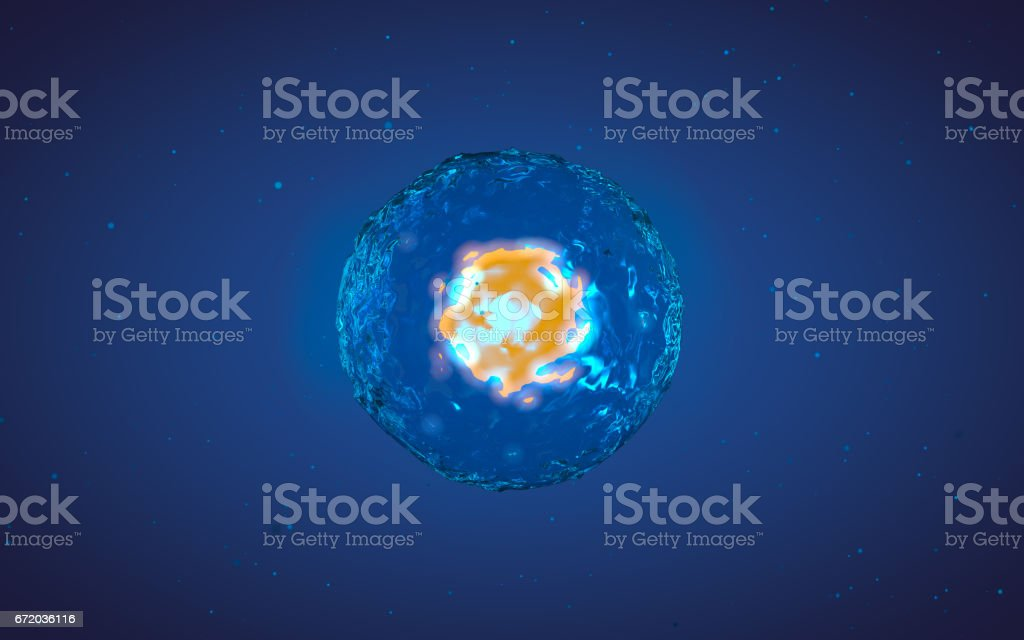 Abstract illustration of cell in mitosis or multiplication stock photo