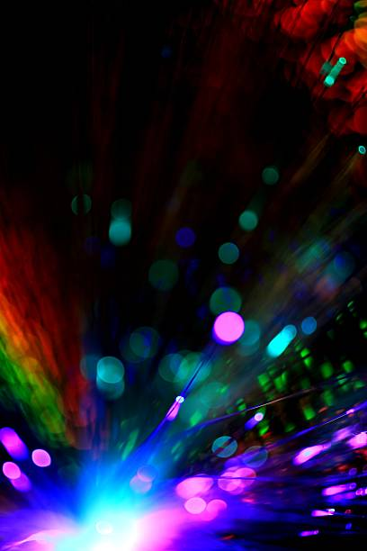 Abstract illustration of colorful lights stock photo