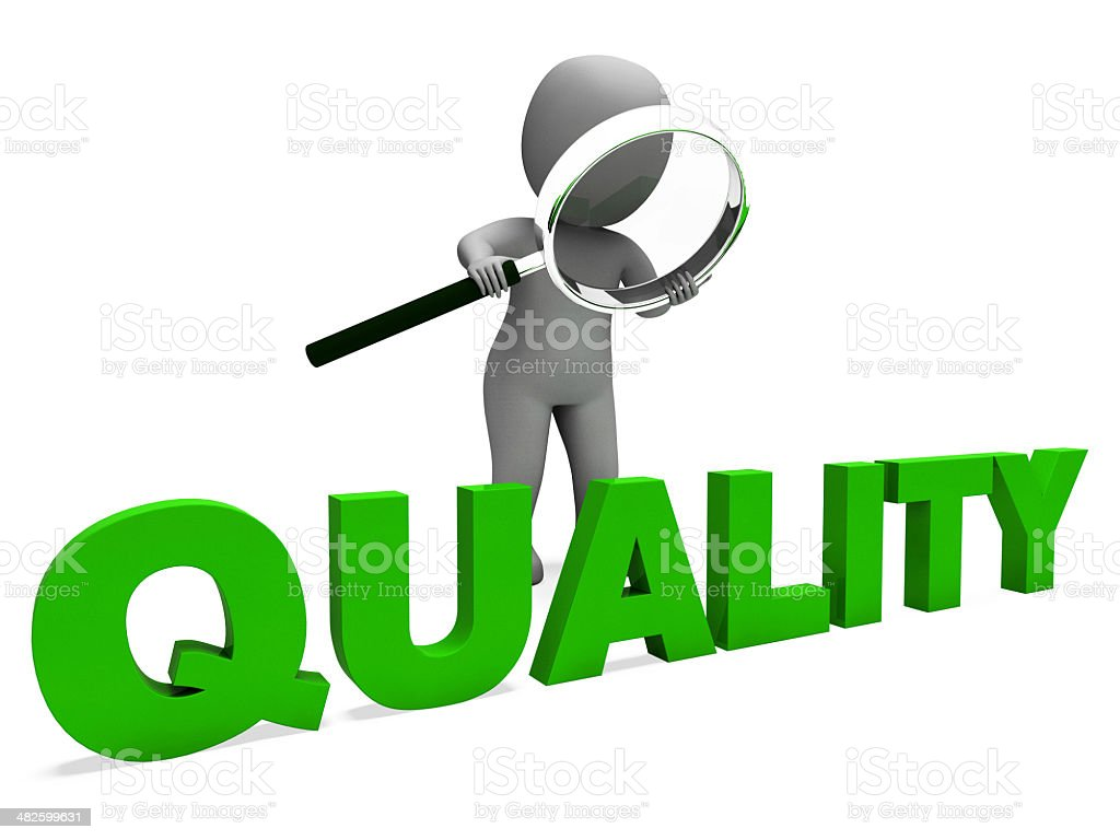 Abstract illustration of quality stock photo